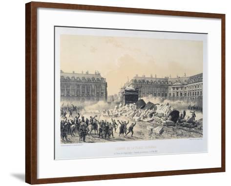 Colonne De La Place Vendome, Paris Commune, May 1871--Framed Art Print