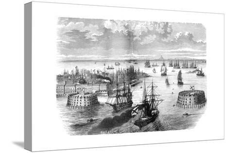 View of Kronstadt, Russia, 1882-1884--Stretched Canvas Print