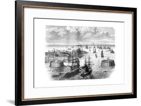 View of Kronstadt, Russia, 1882-1884--Framed Art Print