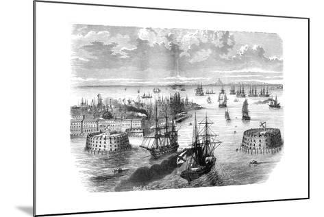 View of Kronstadt, Russia, 1882-1884--Mounted Giclee Print