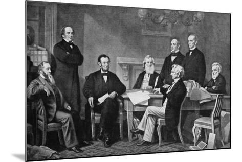 The First Reading of the Proclamation of Emancipation, 1863-Francis Carpenter-Mounted Giclee Print