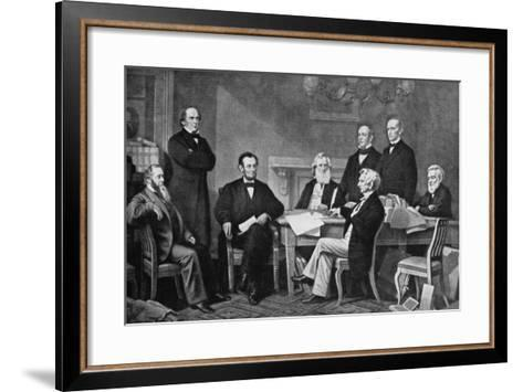 The First Reading of the Proclamation of Emancipation, 1863-Francis Carpenter-Framed Art Print