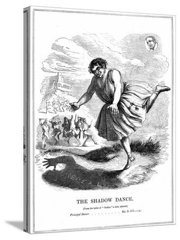 The Shadow Dance, 1843--Stretched Canvas Print