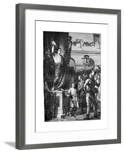 Augustus Presents the Constitution, Lyon, France, 10 BC-Emile Thomas-Framed Art Print