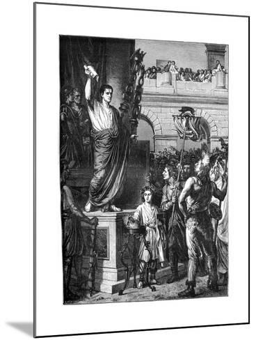Augustus Presents the Constitution, Lyon, France, 10 BC-Emile Thomas-Mounted Giclee Print