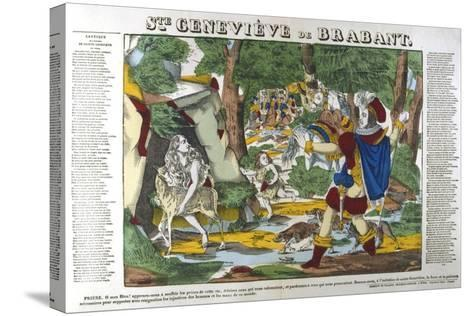 St Genevieve of Brabant in the Forest, 19th Century--Stretched Canvas Print
