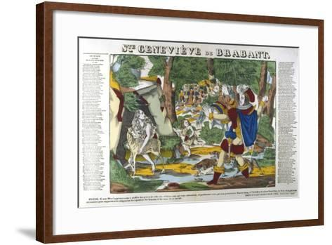 St Genevieve of Brabant in the Forest, 19th Century--Framed Art Print
