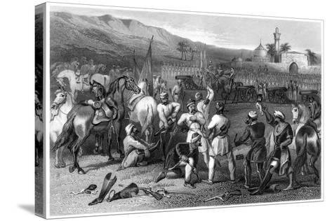 Disarming the 11th Irregular Cavalry at Berhampore, 1857--Stretched Canvas Print