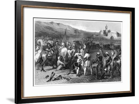Disarming the 11th Irregular Cavalry at Berhampore, 1857--Framed Art Print