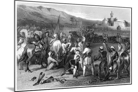 Disarming the 11th Irregular Cavalry at Berhampore, 1857--Mounted Giclee Print