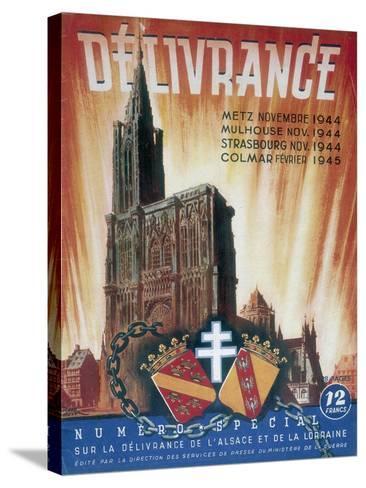World War 2: Deliverance!, 1945--Stretched Canvas Print
