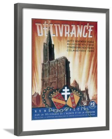 World War 2: Deliverance!, 1945--Framed Art Print