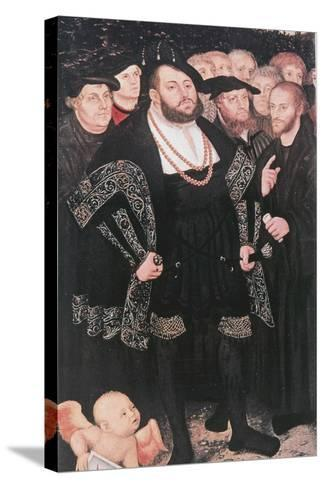 Martin Luther with Reformers, C1530-Lucas Cranach the Elder-Stretched Canvas Print