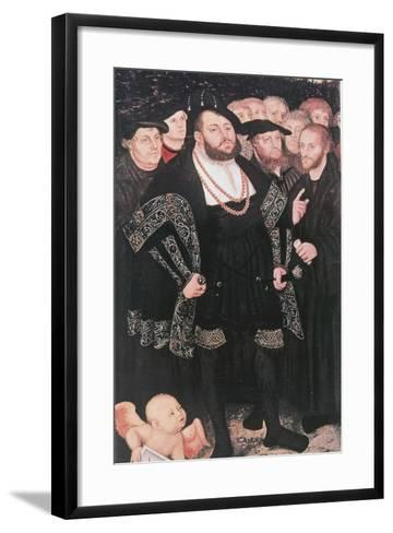 Martin Luther with Reformers, C1530-Lucas Cranach the Elder-Framed Art Print