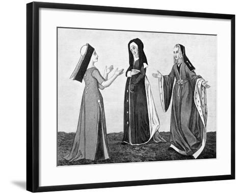 Ladies' Costume, Early 16th Century--Framed Art Print