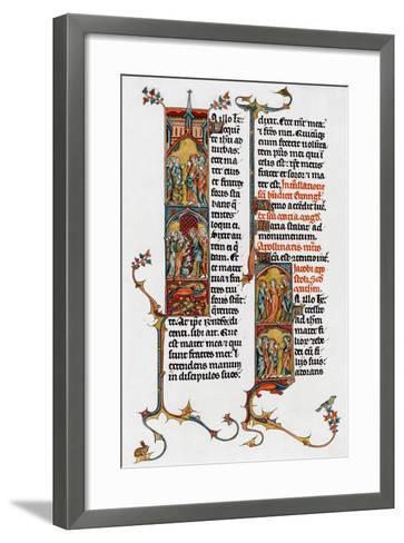 Illuminated Letters, Late 13th Century--Framed Art Print
