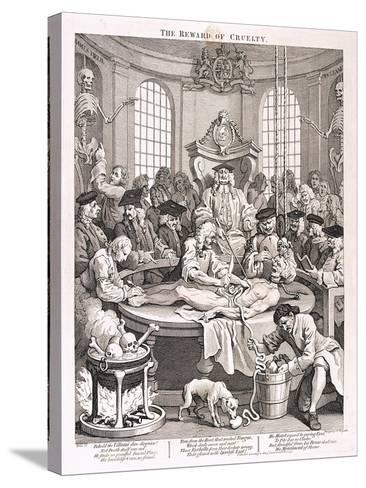 The Reward of Cruelty, Plate IV from the Four Stages of Cruelty, 1751-William Hogarth-Stretched Canvas Print