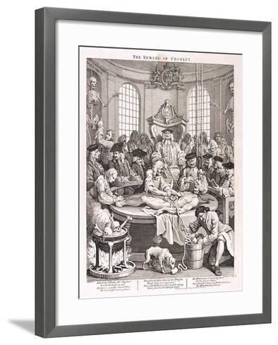 The Reward of Cruelty, Plate IV from the Four Stages of Cruelty, 1751-William Hogarth-Framed Art Print