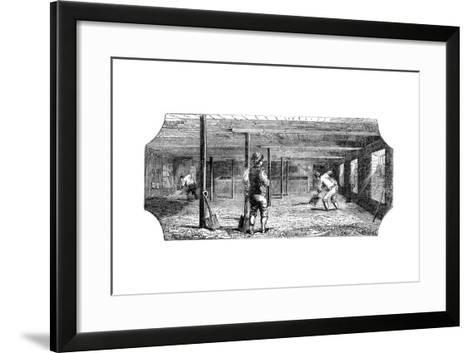 Steeping, Couching and Flooring Malt, 1886--Framed Art Print