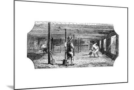 Steeping, Couching and Flooring Malt, 1886--Mounted Giclee Print