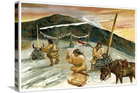 Flying Prayers on the Maium Pass, 1898--Stretched Canvas Print