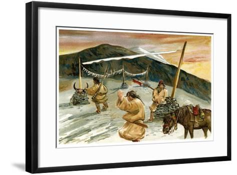 Flying Prayers on the Maium Pass, 1898--Framed Art Print
