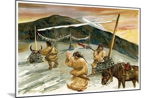 Flying Prayers on the Maium Pass, 1898--Mounted Giclee Print