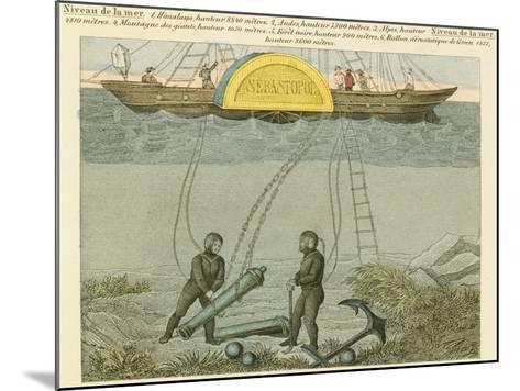 Divers Salvaging Guns from the Seabed, C1855--Mounted Giclee Print