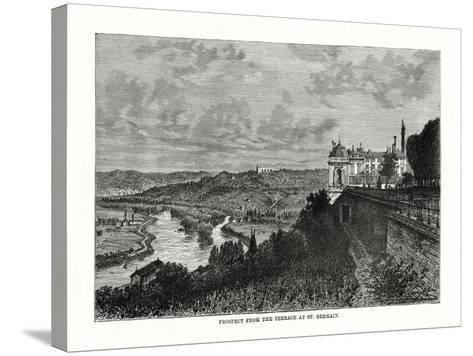 Prospect from the Terrace at St Germain, France, 1879--Stretched Canvas Print