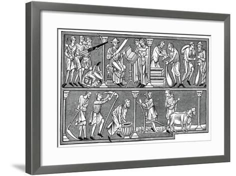 Scenes of Medieval Life, 13th Century--Framed Art Print