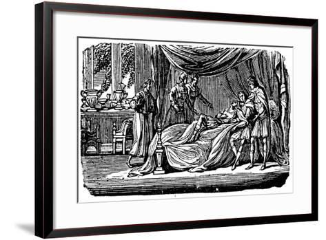 Alexander the Great (356-323 B) on His Deathbed, 1830--Framed Art Print