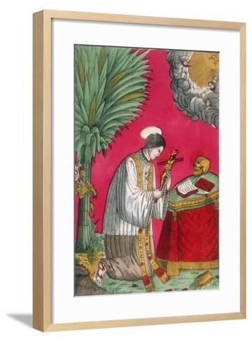 St Louis of Gonzaga, Italian Saint and Protector of Young Students, 19th Century--Framed Art Print