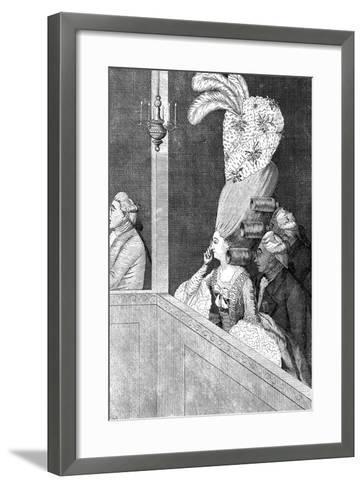 The Optic Curls, 18th Century--Framed Art Print