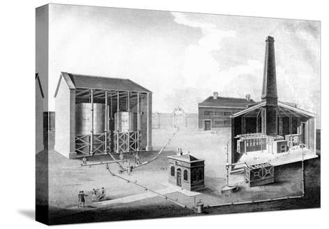 Illustration Showing the Working Spaces of a Gas Works, 1828--Stretched Canvas Print