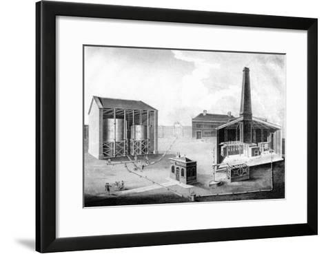 Illustration Showing the Working Spaces of a Gas Works, 1828--Framed Art Print
