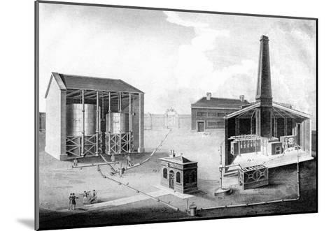 Illustration Showing the Working Spaces of a Gas Works, 1828--Mounted Giclee Print