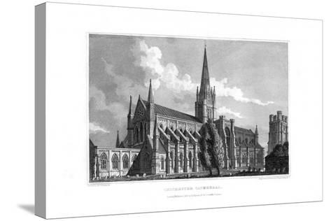 Chichester Cathedral, Chichester, West Sussex, 1829--Stretched Canvas Print