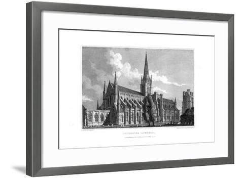 Chichester Cathedral, Chichester, West Sussex, 1829--Framed Art Print