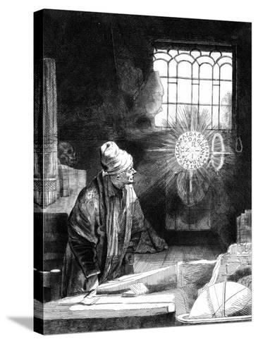Dr Faustus in His Study-Rembrandt van Rijn-Stretched Canvas Print