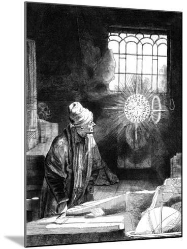 Dr Faustus in His Study-Rembrandt van Rijn-Mounted Giclee Print