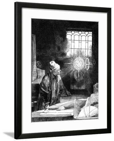 Dr Faustus in His Study-Rembrandt van Rijn-Framed Art Print