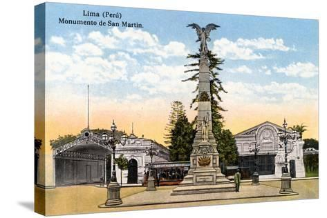 Monument to General San Martin, Lima, Peru, Early 20th Century--Stretched Canvas Print