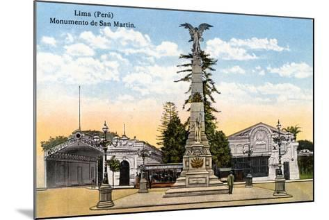 Monument to General San Martin, Lima, Peru, Early 20th Century--Mounted Giclee Print