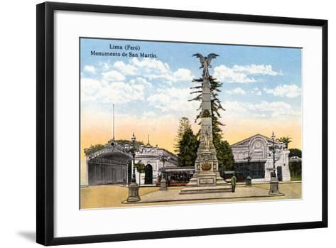 Monument to General San Martin, Lima, Peru, Early 20th Century--Framed Art Print