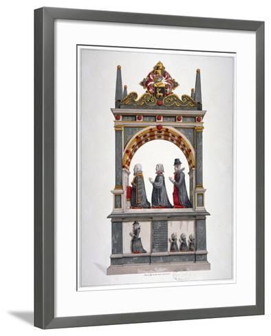Monument to Alderman Richard Humble and Family, St Saviour's Church, Southwark, London, C1700--Framed Art Print