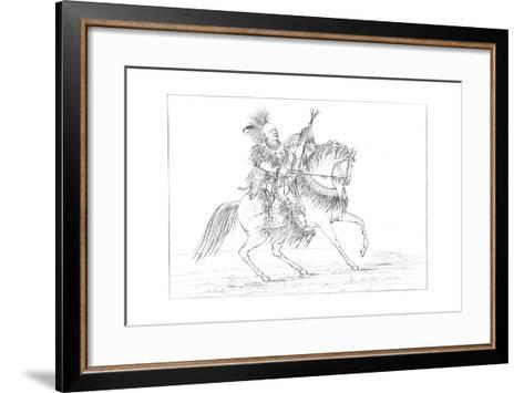 Keokuk on Horseback, Rock Island, Upper Mississippi, 1841-Myers and Co-Framed Art Print