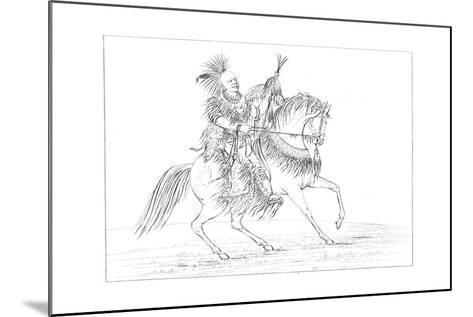 Keokuk on Horseback, Rock Island, Upper Mississippi, 1841-Myers and Co-Mounted Giclee Print