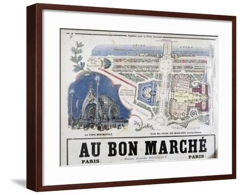 Plan of the Porte Monumentale and Palais Des Beaux-Arts, 1900--Framed Art Print