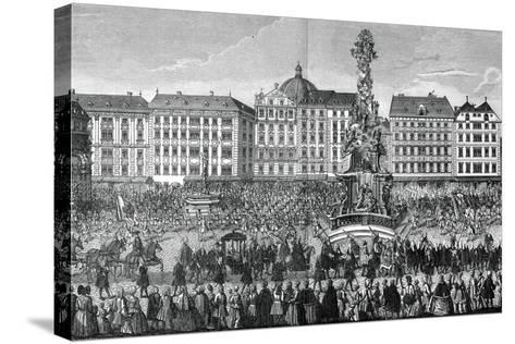 The Oath of Fealty to Maria Theresa as Archduchess of Austria, 22 November 1740--Stretched Canvas Print