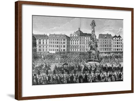 The Oath of Fealty to Maria Theresa as Archduchess of Austria, 22 November 1740--Framed Art Print